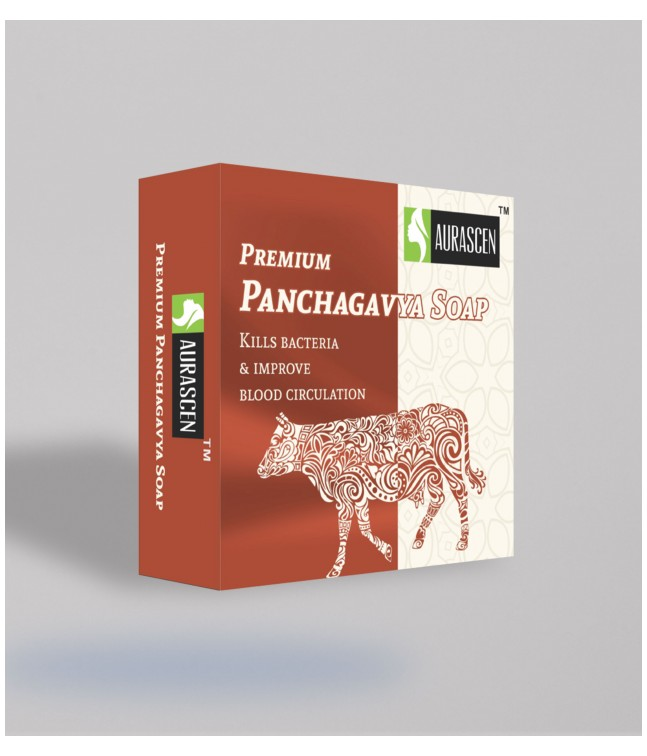 Premium Panchagavya Soap ( Contains Milk, Dung,ghee ,urine And Curd Of Indian Cow) 75 gm