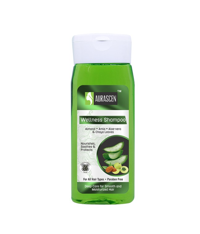Wellness Shampoo (with Almond, Amla, Aloe-vera & Chaya Leaves)